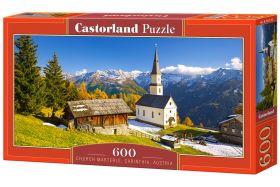 Puzzle 600 pezzi Church Marterle, Carinthia, Austria Castorland su arsludica.com
