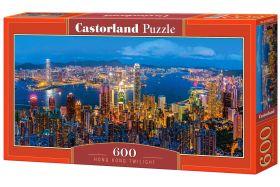Puzzle 600 pezzi Hong Kong Twilight Castorland su arsludica.com