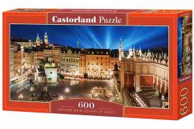 Puzzle 600 pezzi Krakow Main Square at Night Castorland su arsludica.com