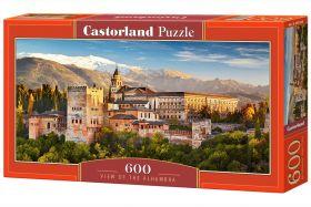 Puzzle 600 pezzi View of the Alhambra Castorland su arsludica.com