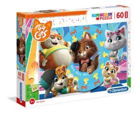 Puzzle 60 pezzi maxi 44 Cats Clementoni su ARSLUDICA.com