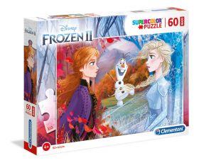 Puzzle 60 pezzi maxi Disney Frozen 2 Clementoni su ARSLUDICA.com