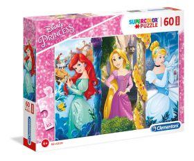 Puzzle 60 pezzi maxi Disney Princess Clementoni su ARSLUDICA.com