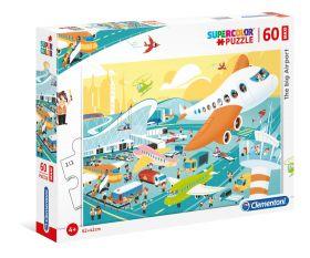 Puzzle 60 pezzi maxi L'Aereoporto Clementoni su ARSLUDICA.com
