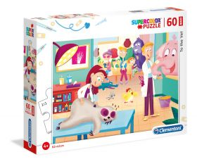 Puzzle 60 pezzi maxi La Veterinaria Clementoni su ARSLUDICA.com