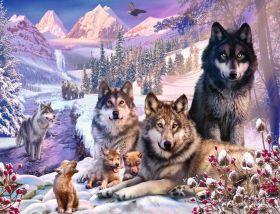 Puzzle Animali 2000 pezzi Ravensburger Lupi nella neve