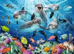 Puzzle Animali 500 pezzi Ravensburger Delfini