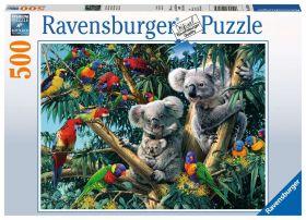 Puzzle Animali 500 pezzi Ravensburger Koala nell'Albero
