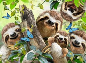 Puzzle Animali 500 pezzi Ravensburger Selfie tra Bradipi