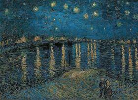 Puzzle Arte 1000 pezzi Clementoni Van Gogh Notte Stellata sul Rodano