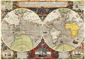 Puzzle Arte 6000 pezzi Clementoni Antique Nautical Map