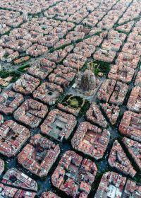 Puzzle Città 1000 Pezzi Ravensburger Barcellona Vista dall'Alto