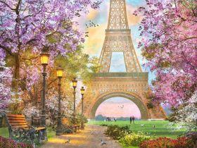 Puzzle Città 1500 pezzi Ravensburger Amore a Parigi