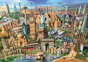 Puzzle Composizioni 1000 pezzi Ravensburger World Landmarks