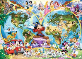 Mappamondo Disney (Puzzle 1000 pezzi Ravensburger)