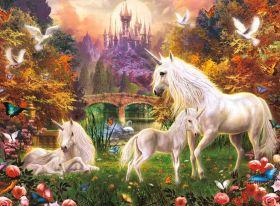 Puzzle Fantasy 500 pezzi Ravensburger Unicorni
