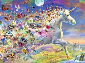 Puzzle Fantasy 500 pezzi Ravensburger Unicorno e le sue Farfalle
