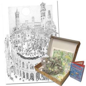Puzzle Formiche 1000 pezzi Verona (Puzzle Fabio Vettori) su arsludica.com