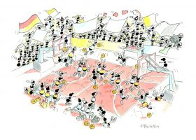 Puzzle Formiche 500 pezzi Basket (Puzzle Fabio Vettori) su arsludica.com
