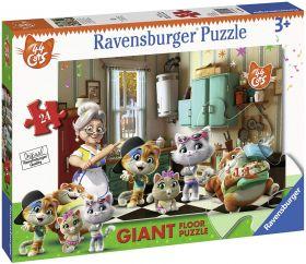 Puzzle Giant Floor 24 Pezzi Ravensburger 44 Gatti