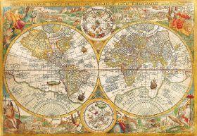 Puzzle Mappamondo 2000 pezzi Clementoni Ancient Map