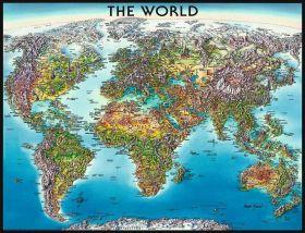 Puzzle Mappamondo 2000 pezzi Ravensburger World Map