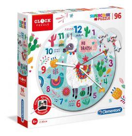 Puzzle Orologio 96 pezzi Llama Clementoni su ARSLUDICA.com