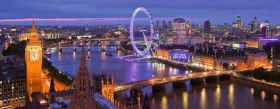 Puzzle Panorama 1000 pezzi Ravensburger Londra di Notte