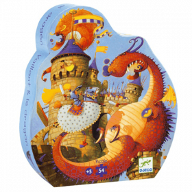 Puzzle Vaillant and the Dragon 54 pezzi (Puzzle Djeco)