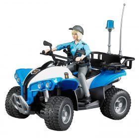 Quad Polizia con Poliziotta e accessori (Gioco Bruder)