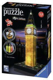 Puzzle 3D Night Edition Big Ben Gioco (Ravensburger 3D Puzzle)