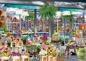 Puzzle 1000 Pezzi Ravensburger Amsterdam Flower Market  Puzzle Fantasy