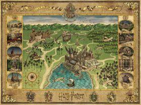 Puzzle 1500 Pezzi Ravensburger Mappa di Hogwarts | Puzzle Personaggi