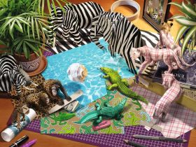 Puzzle 1500 Pezzi Ravensburger Libreria di Word Smith | Puzzle Fantasy