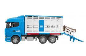 Scania R-Series Camion Trasporto Bestiame con un Bovino (Gioco Bruder)