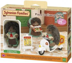 Set Consegna Pizza a Domicilio + Personaggio Riccio (Sylvanian Families)