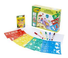 Set Stencil Fantasia Crayola su ARSLUDICA.com