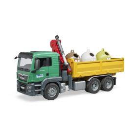 TGS Camion Ribaltabile con Campane Raccolta Vetro e Bottiglie (Gioco Bruder)