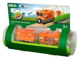 Treno Merci e Tunnel 33891 (BRIO Lift and Load)
