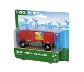 Vagone Merci con Carico d'Oro 33938 (BRIO Lift and Load)