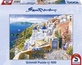 Vista di Santorini (Puzzle 1000 pezzi Schmidt)