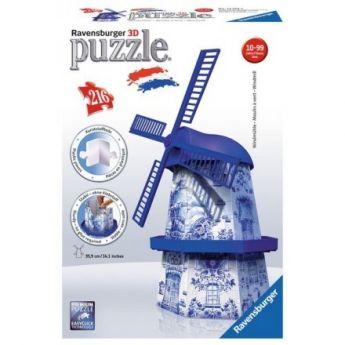 Puzzle 3D Mulino a Vento Gioco (Ravensburger 3D Puzzle).