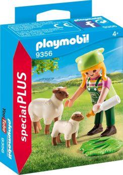 Playmobil 9356 Ragazza con Pecora e Agnellino (Playmobil Figures) (Playmobil)