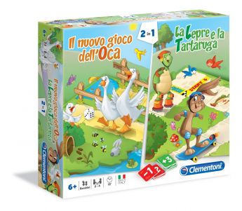 2in1 Il Nuovo Gioco dell'Oca & La Lepre e la Tartaruga Gioco da Tavolo Clementoni su ARSLUDICA.com
