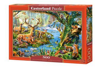 Puzzle 500 Pezzi Castorland Forest Life | Puzzle Animali