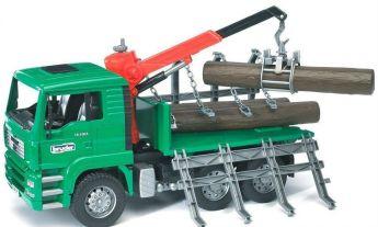 Trattore Camion per il Trasporto di Legna (Gioco Bruder)