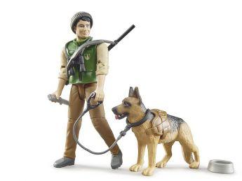 Personaggio BWorld Guardia Forestale con Cane ed Equipaggiamento | Gioco Bruder
