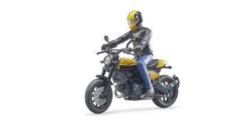 Moto Ducati Scrambler Full Throttle con Pilota | Gioco Bruder