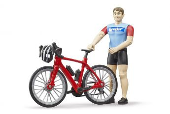 Bicicletta da Strada con Ciclista | Gioco Bruder