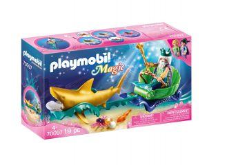 Playmobil 70097 Re dei Mari con Carrozza e Squalo (Playmobil Magic) su ARSLUDICA.com